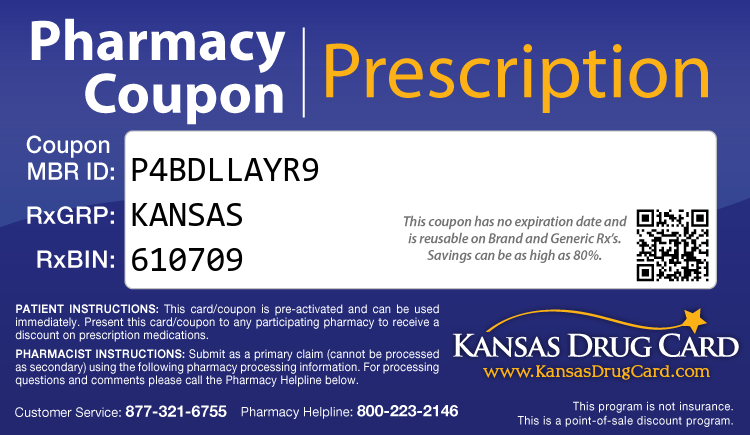 Kansas Drug Card - Free Prescription Drug Coupon Card